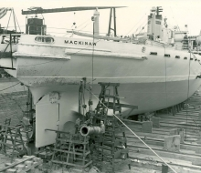Mackinaw in drydock